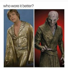 Obviously Snoke @hamillhimself I'm being sarcastic