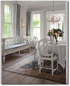 Love the style in this- almost like a mix of American colonial and shabby chic