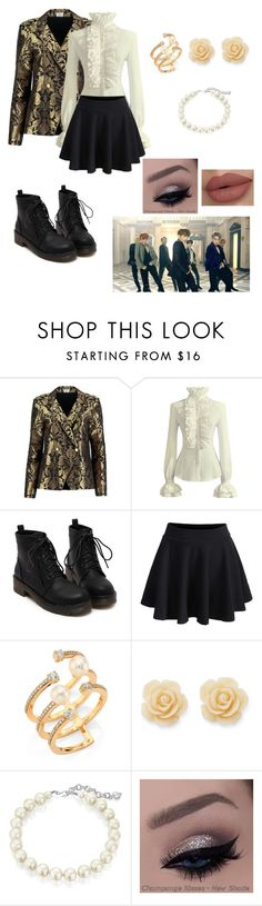 """BTS blood sweat and tears inspired outfit!! Request by xxsimplycutexx"" by bts4ever02 ❤ liked on Polyvore featuring Sania Studio, WithChic, Hueb, Draper James and Carolee"