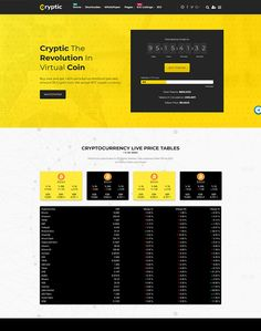 Cryptic - Cryptocurrency WordPress Theme - ModelTheme Cryptocurrency, Wordpress Theme