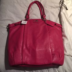COACH mad lth Lindsey bag Pink coach purse, new with tags! Never used!! offers welcome!!  Coach Bags Totes