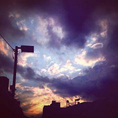 #sunset #sky #cloud #raincloud #tokyo