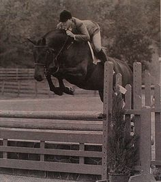 Strapless & T. Whitehead were the Second Year Green Hunter Champions at Old Salem in 2000. Photo by Parker.