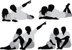Vectores libres de derechos: Multiple images of a romantic couple Cut Out People, People Crowd, Render People, Thumbnail Sketches, Multiple Images, Figure Reference, People Illustration, Little Black Books, Romantic Couples