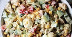 Sałatka z tortellini - prosty przepis, pyszny smak! Pisałam o tym na blogu już wiele razy, że przepisy na sałatki cieszą się u mnie najwięk... Tortellini, Pasta Salad, Ethnic Recipes, Food, Crab Pasta Salad, Meal, Eten, Cold Noodle Salads, Meals