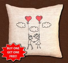 It's a great Valentine's gift idea to present hearts pillow. It can be Valentine's gift for boyfriend or gift for girlfriend. Anyway, it'll show how much you love each other.