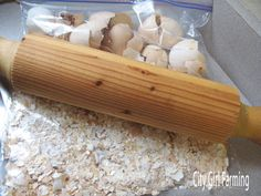 Calcium for chickens - shows how to prepare crushed eggshells (need to bake them!)