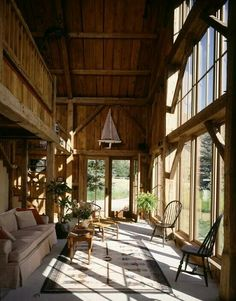 With Spring almost here, we want to inspire you for a new modern interior design for your living room. Rustic French Country, Modern Rustic, Rustic Style, Mountain Dream Homes, Barn Living, Country Living, Living Area, Living Rooms, Living Spaces