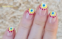 #Colorful #Curved #Frenchmanicure For #Summer / https://www.youtube.com/user/LifeWorldWomen