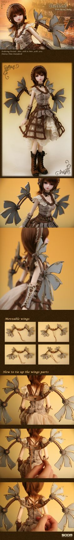 Product View : Rosette School - [Steam Rosette]Delilah wings #Steampunk