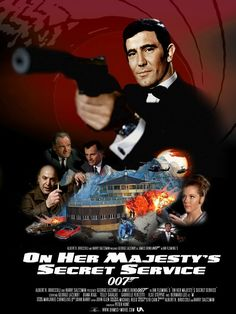 My entry to the James Bond Re-BONDED Challenge. On Her Majesty's Secret Service is one of the most under-rated of Bond movies and as such; On Her Majesty's Secret Service James Bond Movie Posters, Old Movie Posters, Classic Movie Posters, James Bond Movies, Classic Movies, Bond Girls, Sean Connery, Roger Moore, Service Secret