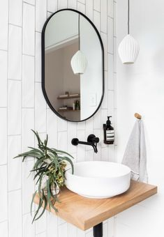 Bathroom Mirror Ideas for Small Bathroom - Unique & Modern Designs Life-changing contemporary bathroom mirror ideas // bathroom vanity mirror lighting ideas Minimal Bathroom, Bathroom Black, Gray Bathrooms, Parisian Bathroom, Turquoise Bathroom, Eclectic Bathroom, Modern Bathrooms, Master Bathrooms, Small Bathrooms