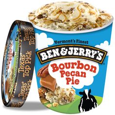 Bourbon Pecan Pie, Blueberry Ice Cream, Chocolate Ice Cream, Ben And Jerrys Ice Cream, Desserts, Easy, Bullet Journal, Food, Sweet And Saltines