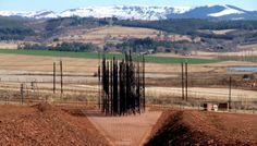 Our next Pinterest clue looks like a bunch of random black poles with a beautiful, scenic backdrop of the KwaZulu-Natal Midlands. However, if you get closer, it becomes the famous face of a former President of South Africa. Do you know the location? Click the photo to enter! Kwazulu Natal, Nelson Mandela, Former President, Famous Faces, Did You Know, South Africa, Backdrops, Closer, Beautiful