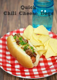 Quick Chili Cheese Dogs | Plain Chicken
