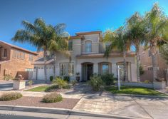 """22497 S 204th Street  Queen Creek, AZ 85142 Listed at $525,000 STUNNING 5 bed 5 bath home, 36"""" wood look tile, Custom glazed cabinetry, Fresh int & ext paint, 1 bed w/full bath on main floor. Upper master retreat features bath w/ split vanities, freestanding tub, walk-in shwr w/ o-head rain & body jets! Addt'l 3 beds upstairs. Sparkling pool with fire features, putting green, nat-gas BBQ & fire pit! This premium view lot is backed up to Queen Creek wash, 300 yds from bike trails!"""