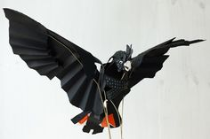 Red-tailed Black Cockatoo, 2014, by Anna-Wili Highfield, paper artist