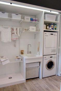 Lavandería con poco espacio