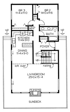 House Plan 90930 - Contemporary , House Plan with 1702 Sq Ft, 3 Bed, 2 Bath Log Cabin House Plans, A Frame House Plans, Cottage Style House Plans, Basement House Plans, Family House Plans, Log Cabin Homes, Garage Plans, Dream House Plans, Small House Plans