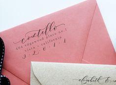 Beautiful Wedding Invitations, Wedding Stationery, Wedding Card Design, Wedding Cards, Rustic Wedding Guest Book, Rustic Invitations, Invites, Address Stamp, Return Address