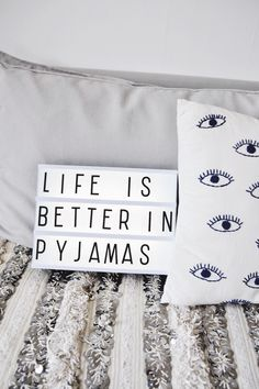 Comfy pyjamas are CRUCIAL for the perfect nights sleep. Team them with luxury bed sheets from next and you're on to a winner! Cinema Light Box Quotes, Cinema Box, Light Box Quotes Funny, Luxury Bed Sheets, Luxury Bedding, Lightbox Letters, Lightbox Quotes, Mini Lightbox, Hygge