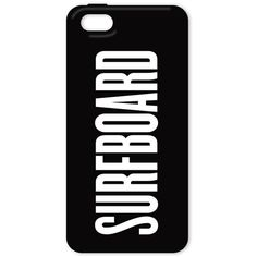 SURFBOARD iPHONE 5 CASE ($20) ❤ liked on Polyvore featuring accessories, tech accessories, phone cases, phone, cases and electronics