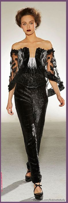 Georges Chakra Fall Winter 2014-15 fashion. dress. women's clothing. shows. model. top. designers. star. show business. celebrities. facebook. social networks