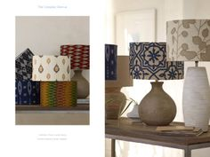 Camden Flare Lamp Base and Embroidered Lamp Shades