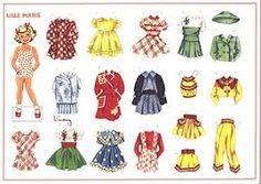 Billedresultat for påklædningsdukker store og lille Marie