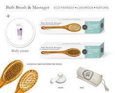 NEED -  NEW Body Brush  Back Scrubber with FREE Hook  Body Cream  Cotton Cover