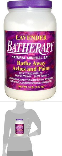 Bath Salts: Batherapy Natural Mineral Bath, Lavender, 5 Pound -> BUY IT NOW ONLY: $30.63 on eBay!