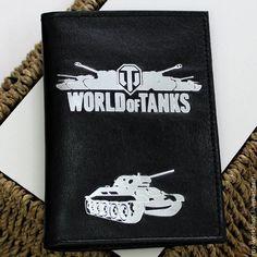 Купить Обложка на паспорт World of Tanks - черный, обложка на паспорт, обложка для паспорта