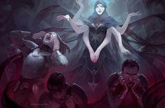 'Lilith' by Irina Nordsol Kuzmina New Fantasy, Fantasy Girl, Dark Fantasy, Medieval Fantasy, Character Concept, Character Art, Concept Art, Character Design, Character Ideas