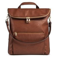 DV Women's Faux Leather dv Flap Top Backpack Handbag : Target