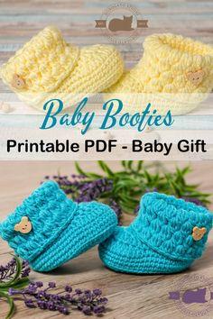 Booties Crochet, Crochet Baby Boots, Crochet Mittens, Crochet Baby Clothes, Crochet Slippers, Crochet Gifts, Baby Booties, Baby Sandals, Knit Baby Shoes