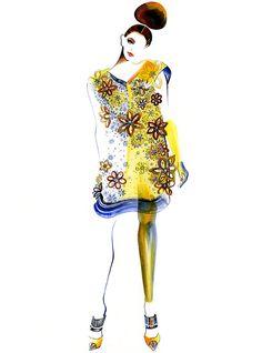 Piste Fashion Illustration Louis Vitton par sunnygu sur Etsy