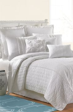 Laundry by Shelli Segal 'Ava Eyelet Inset' Coverlet available at #Nordstrom