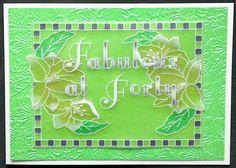Groovi Plates 40th birthday card by Lynne Lee