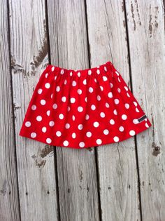 Girls twirly skirt. Red and white or any color polka dot fabric. Custom Boutique children's clothing. By EverythingSorella. on Etsy, $22.50