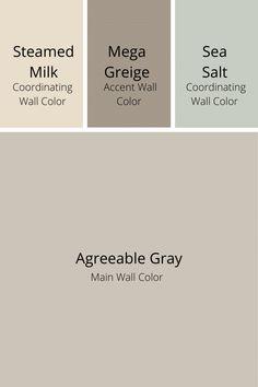 Interior Paint Colors, Paint Colors For Home, House Color Schemes Interior, Neutral Wall Colors, Blue Gray Paint Colors, House Color Palettes, Popular Paint Colors, Neutral Color Scheme, Bedroom Paint Colors
