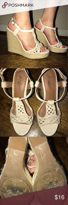 Lucky Brand cream colores wedges Lucky Brand white/ off white wedges size 7. Good used condition. Super cute for summer! Lucky Brand Shoes Wedges