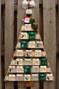 Felt Advent Calendar 24 Felt Ornaments Holiday Xmas by SadowaArt