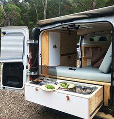 Ford Transit Camper, Suv Camper, Mini Camper, Ford Transit Connect Camper, Van Conversion Build, Minivan Camper Conversion, Van Conversion Interior, Camper Van Kitchen, Van Dwelling