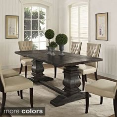 Column Wood Dining Table | Overstock.com Shopping - The Best Deals on Dining Tables