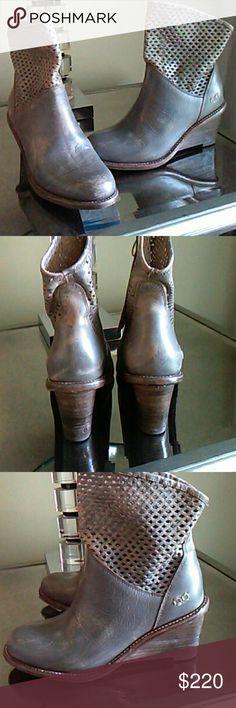 Bed Stu Dutchess boots Smoke gray. Distressed leather. True work of art. TTS b66f4fa83d50b