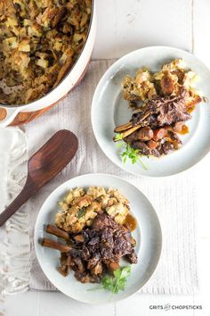 Braised Venison Racks with Chesnut Stuffing