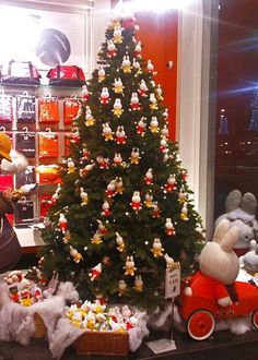 """""""What are you doing for Miffymas this year? Female Rabbit, Miffy, Dutch Artists, Special Occasion, Bunny, Christmas Tree, Holiday Decor, Cute, Pictures"""