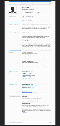 resume is a beautiful cv template with bold typography vivid