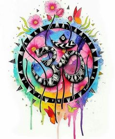 The om symbol original by pixiecoldart on etsy hinduismo, budismo, arte bud Mandala Art, Mandala Nature, Image Mandala, Mandala Meditation, Art Om, Art Chakra, Yoga Kunst, Om Symbol, Hamsa