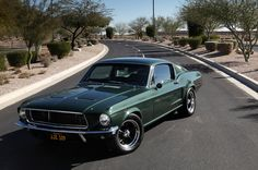 68 Mustang Fastback green